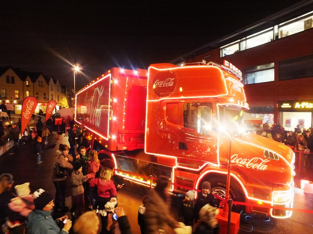 Coca Cola Truck in Bournemouth
